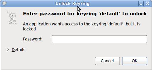default keyring