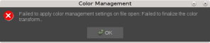 failed to apply color management settings