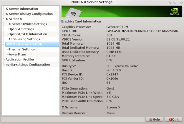 nvidia settings t450s