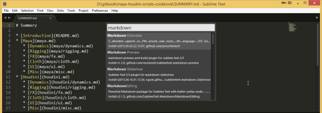 sublime markdown plugins