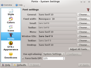 systemsettings application appearance dpi