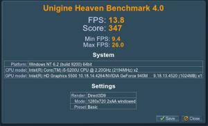 unigine heaven 940m